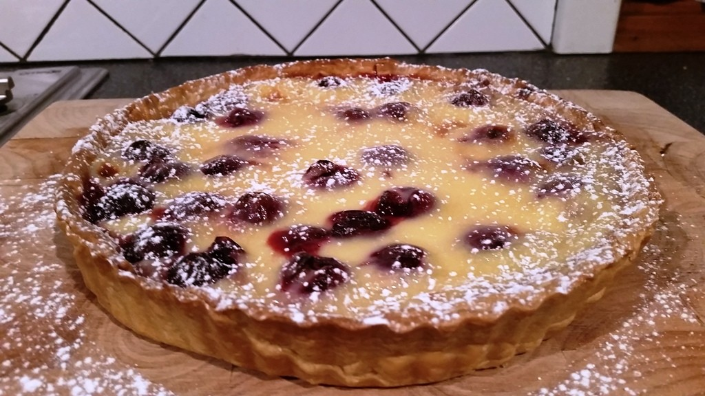Cherry Custard Tart | Little Hill Farm