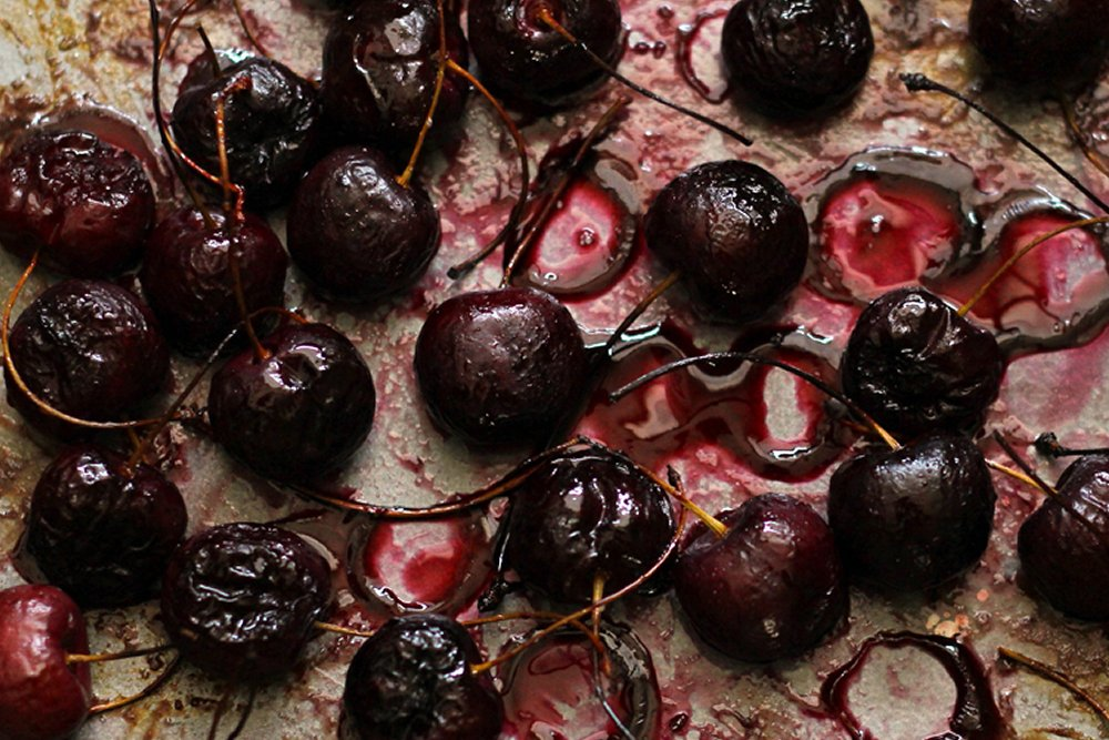 rosemary roasted cherries