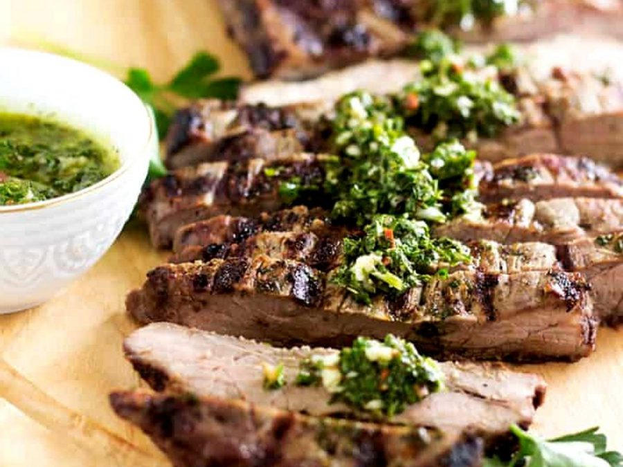 Tomahawk Steak with Chimichurri Sauce